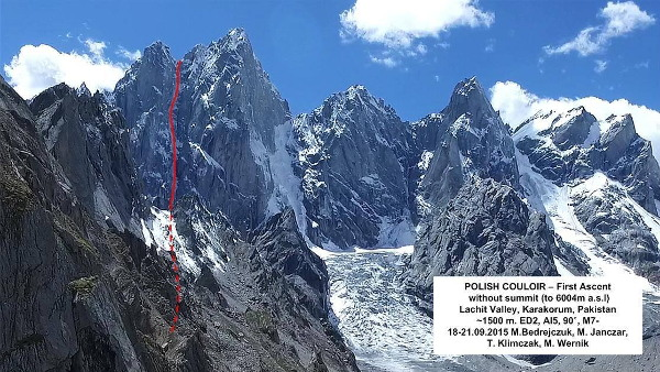 polish couloir lachit valley