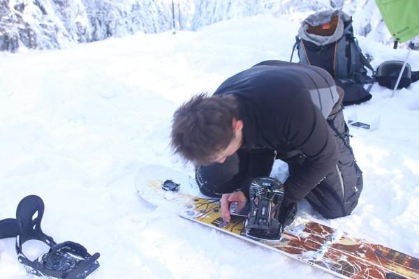 Montaż splitboardu