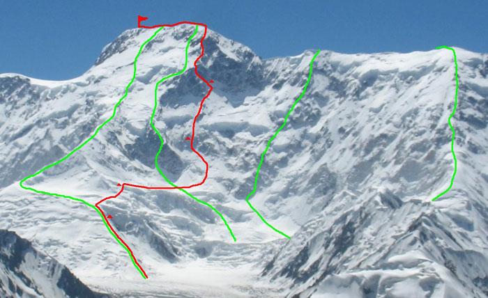Północna ściana Peak Pobiedy