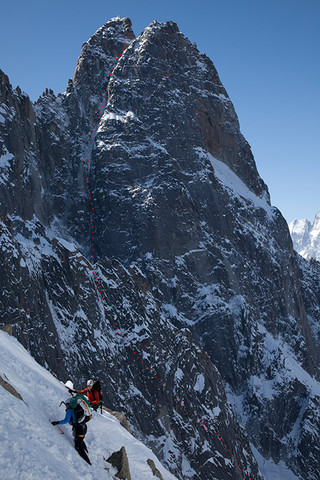 Dru North Couloir
