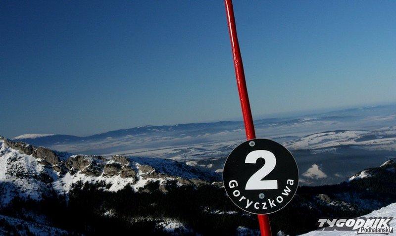 Stok narciarski na Kasprowym Wierchu