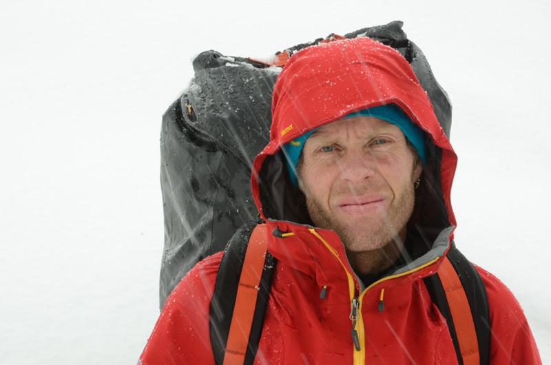 R. Jasper podczas wyprawy do Chile