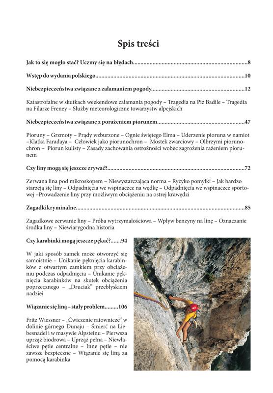 Bezpieczeństwo i ryzyko w skale i lodzie spis treści