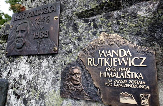 Tablica pamiątkowa Wandy Rutkiewicz