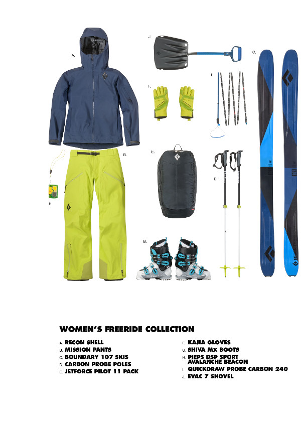 black diamond women freeride collection