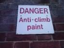 Anti climbing paint