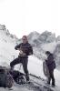 Jerzy Kukuczka (chyba? ) podczas wspinania w Tatrach