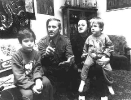 Jerzy Kukuczka z żoną i dziećmi