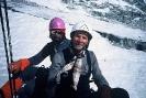 Andrzej Heinrich i Jerzy Kukuczka po powrocie ze szczytu Cho Oyu w 1985 roku