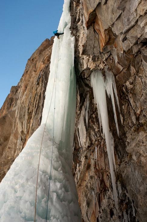 Wspinanie lodowe w Cogne