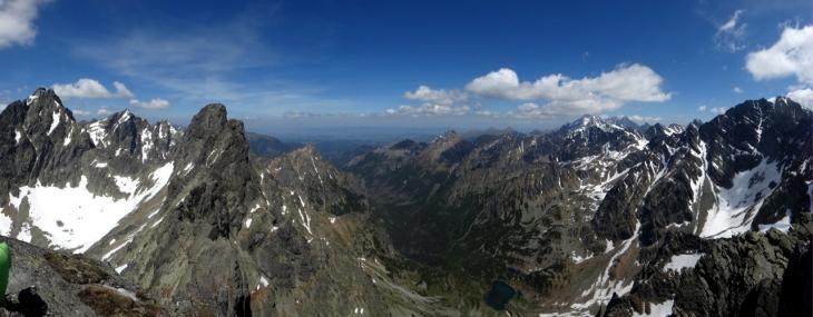 Panorama ze Żłobistego Szczytu na Dol. Białej Wody
