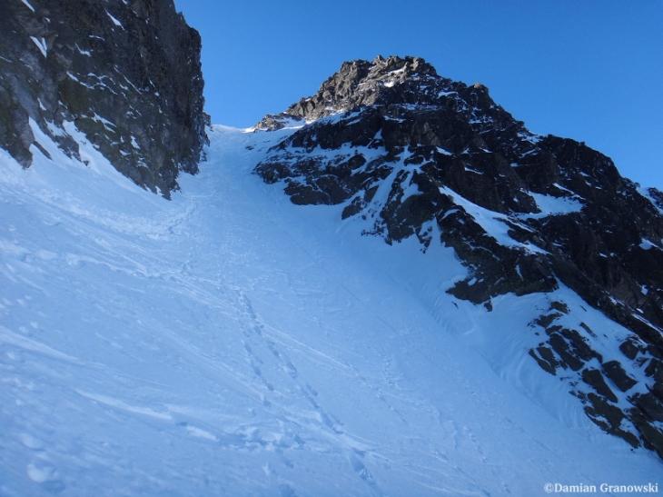 Ostatni odcinek podejścia na Baranią Przełęcz