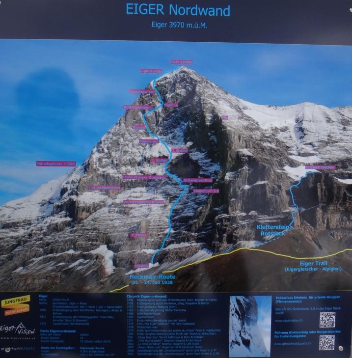 Droga Heckmaira na północnej ścianie Eigeru